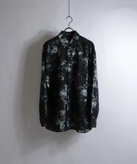 LS総柄ビッグシャツ /ブラック