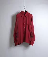LS刺繍ラグランビッグシャツ /レッド