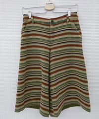 【Ladies】Jocomomola ボーダーワイドパンツ サイズ40(248)
