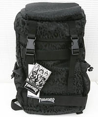 【新品】THRASHER LEOPARD BLACK BACK PACK(262)