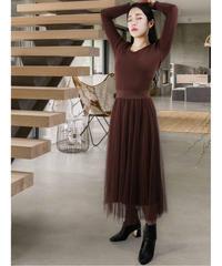 diploa | TULLE DOCKING  DRESS