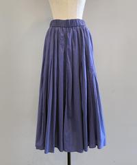 <women> MICA&DEAL(マイカ&ディール)ウエストギャザーボリュームスカート / ブルー