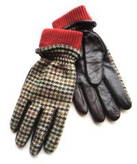 <men>KEITH(キース)ウール×本革・メンズ手袋 / ブラウン