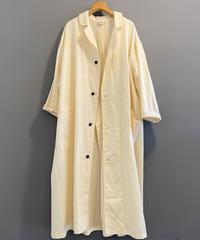 <women>Yarmo(ヤーモ) cottontwill ラボコート / 白