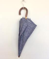 <unisex>Bon Bon Store(ボンボンストア) ドローイングチェック長傘(晴雨兼用)/ネイビーチェック