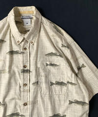 2000s Columbia Fish Pattern Shortsleeve Shirt