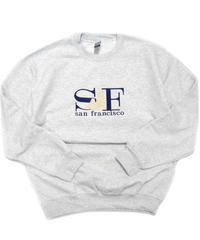 "San Francisco Souvenir Crew Neck Sweat Shirt ""SF"" Gray"