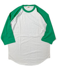 90s Screen Stars Raglan T-Shirts Green/White (dead stock)