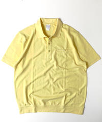Haband Banded Bottom Shortsleeve Polo Shirt Yellow