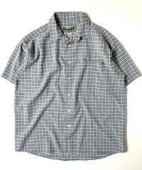 90s EMS Plaid Seersucker Shortsleeve Shirt