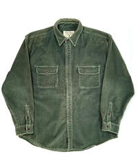 90s Eddie Bauer Wide Wale Corduroy Shirts Green