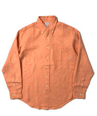 90s Brooks Brothers Slim Fit Long Sleeve Linen Shirts Orange