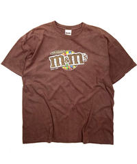 2000s m&m Short Sleeve T-Shirt Brown