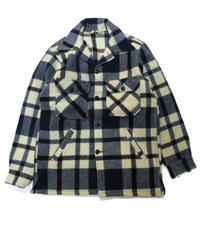 70's  Woolrich Plaid Wool Jacket  [C-0177]