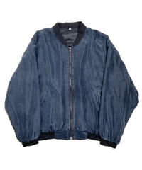 90s Silk Blouson Jacket Black
