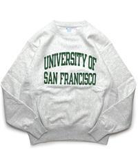 University of Sanfrancisco Reverse Weave Crewneck Sweat Shirts