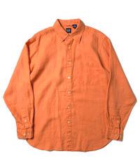 90s GAP Long Sleeve Linen Shirts Orange