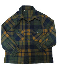 60's Amana Woolen Mills Plaid Wool Jacket  [C-0132]