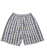 Deadstock Natural Elements Plaid Easy Shorts