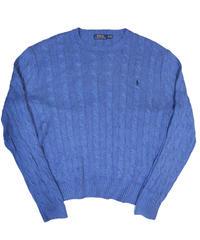 00's Polo Ralph Lauren Cotton Knit Sweater [C-0075]