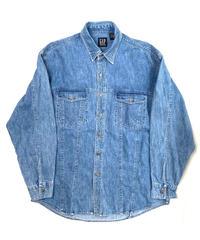90s Gap Long Sleeve Flap Pocket Denim Shirts