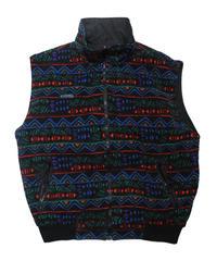 90's Columbia Fleece/Nylon Reversible Vest [C-0013]