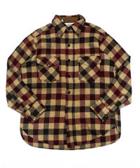 70's Woolrich Plaid Wool shirt[C-217]