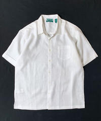 Cubavera Linen Short sleeve Shirts White