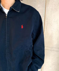 90s Polo Ralph Lauren Cotton Drizzler Jacket Navy