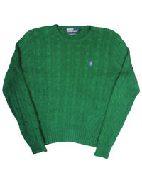 90's Polo Ralph Lauren Cotton Knit Sweater [C-0072]