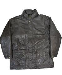 90's Eddie Bauer Leather Down Jacket [C-0060]
