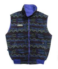 90's Columbia Fleece/Nylon Reversible Vest [C-0028]
