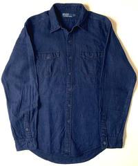Ralph Lauren Indigo Linen Longsleeve Shirt