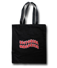 Editorial Magazine Red Bubble Tote Bag Black