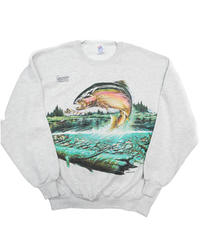 90's Fish Crew Neck Sweat Shirt