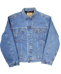 90's Levi's Quilting Lined Denim Trucker Jacket [C-0068]