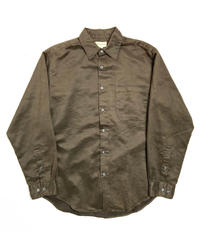 90s Merona Fake Suede Long Sleeve Shirt Brown