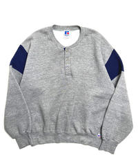 90s Russel Athletic Henley Neck Sweatshirt