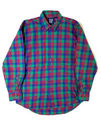 90s Gap Long Sleeve Check Shirts