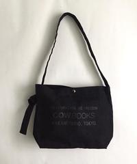 Canvas Shoulder Tote  (Black×Black)