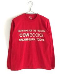 Book Vender Long sleeve T-shirt (Logo /Redb×Ivory)