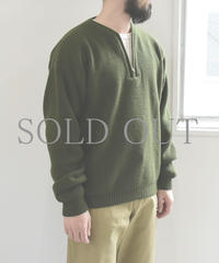 bunt / HALF ZIP SWEATER / col.カーキ