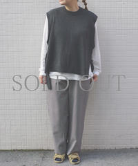 bunt / WOOL TAPE KNIT VEST / col.チャコール / Lady's