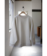 Blanc YM / Coating Sweat Shirt / col.BEIGE / size.S