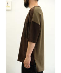 YOKO SAKAMOTO  / MIX POCKET T-SHIRT / col.BROWN / size.M