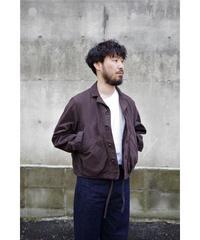 YOKO SAKAMOTO / CROPPED COACHES JACKET / col.OVERDYE BROWN