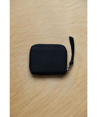 ERA. / BUBBLE CALF ROUND VERY MINI WALLET / col.BLACK