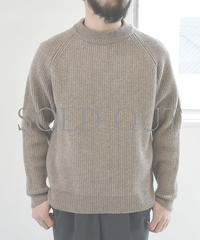 bunt / 5G GRANDFATHER SWEATER / col.ベージュ