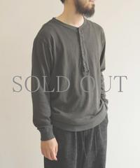YOKO SAKAMOTO / L/S HENLEY NECK / col.グレー