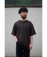 ULTERIOR / DRY FEEL SOFT TERRY H/S TEE / col.SUMI